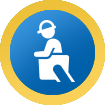 Utility worker icon